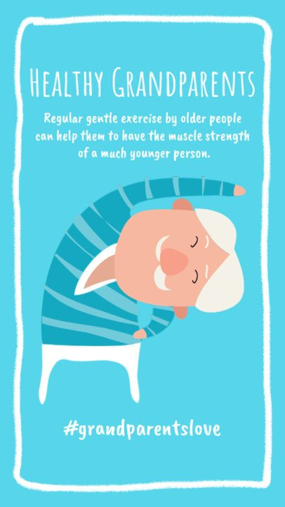 Illustrated Instagram Story Creator to Encourage Grandparents to Exercise 996a-el1