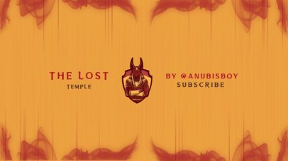 YouTube Banner Maker Featuring an Anubis Graphic 2470l