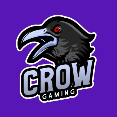 Logo Generator Featuring an Evil Crow with Red Eyes 1077d-el1