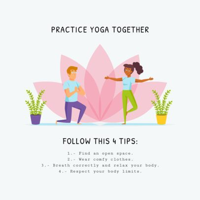 Illustrated Instagram Post Creator About Yoga For Couples 1000-el1