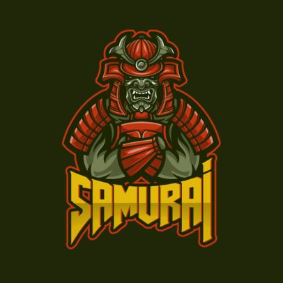 Logo Maker for Gamers Featuring an Evil Samurai Warrior Illustration1092f-el1