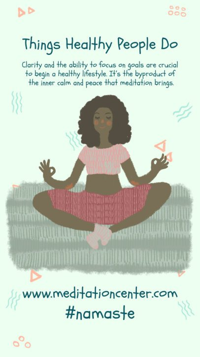 Illustrated Instagram Story Maker with a Meditation Theme 984a-el1