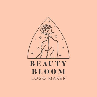 Beauty Brand Logo Maker Featuring Female Line Drawings 3193