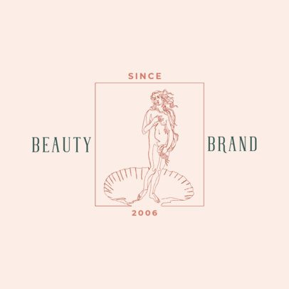 Beauty Brand Logo Creator with a Drawing of a Goddess 3191g