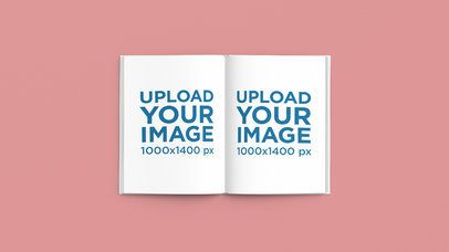 Open Book Mockup Featuring a Minimal Setting 2434-el1