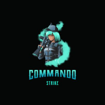 Gaming Logo Maker with an Anime-Style Shooter Character 3183f