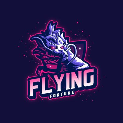 Logo Template for a Gaming Squad Featuring a Magical Dragon Clipart 3185b