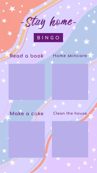 Bingo Challenge Instagram Story Maker with a Starred Design 2478e
