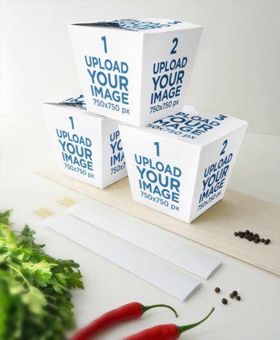 Mockup Featuring Three Piled Food Boxes 3996-el1