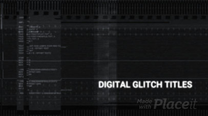 Cool Intro Maker for a Logo Reveal Featuring Glitching Animated Graphics 1489-el1
