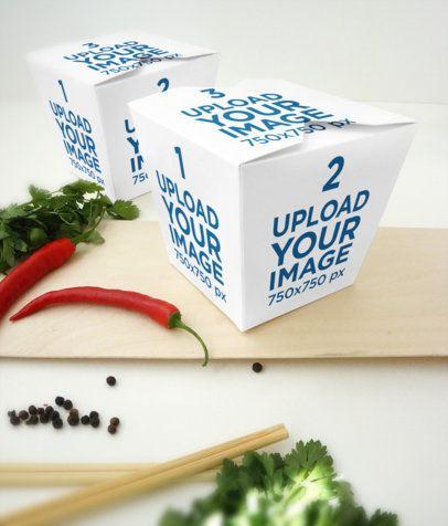 Food Box Mockup Featuring Seasoning Ingredients 4000-el1