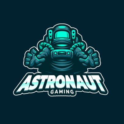 Gaming Logo Maker with an Astronaut Character 1212d-el1