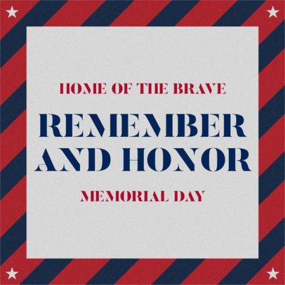 Design Template for a Memorial Day Celebration Facebook Post 2486e