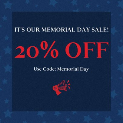 Facebook Post Design Maker for a Memorial Day Special Offer 2486j