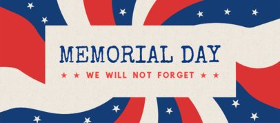 Facebook Cover Generator for a Memorial Day Celebration 2487d