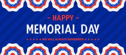 Facebook Cover Maker Featuring a Festive Memorial Day Design 2487e