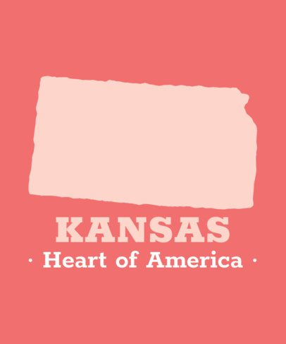 T-Shirt Design Maker with an Icon of Kansas State 1120e-el1