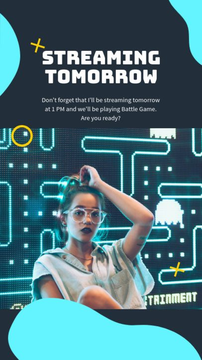 Instagram Story Creator for an Interactive Gaming Session 1123b-el1