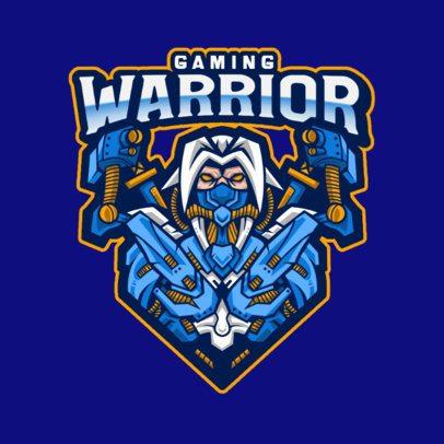Gaming Logo Generator Featuring a Cyborg Warrior Illustration 1215d-el1