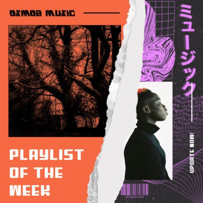 Instagram Post Creator for a Weekly Music Playlist Recommendation 2490k
