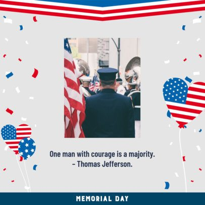 Patriotic Instagram Post to Remember Military Men and Women 2485e