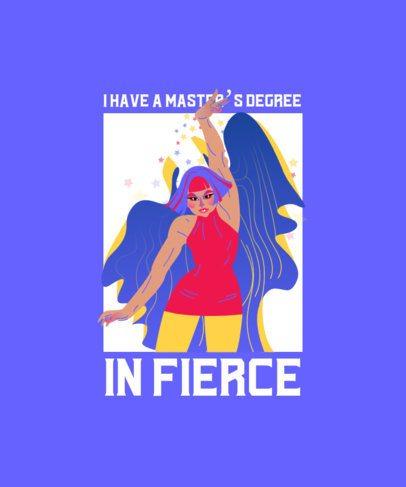 T-Shirt Design Maker Featuring a Fierce Drag Queen Illustration 2481b