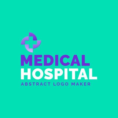 Logo Creator for a Hospital with a Modern Cross Graphic 3212b