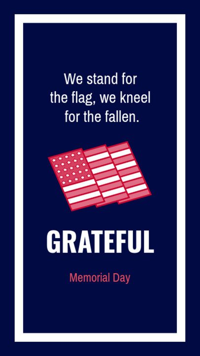 Instagram Story Creator with a Memorial Day-Related Quote 2787e