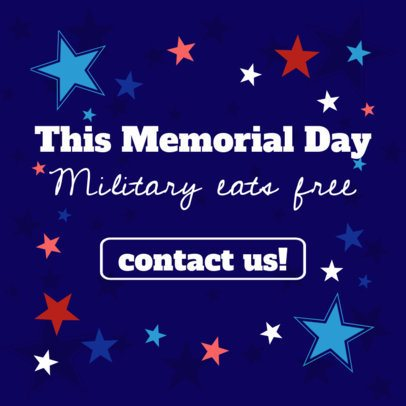 Banner Generator for Memorial Day Promos Featuring a Starry Design 2488j