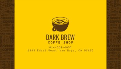 Business Card Template for Coffee Shop Business 186a