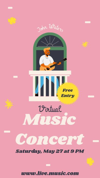 Music-Themed Instagram Story Maker Featuring Illustrated Performers 1224-el1