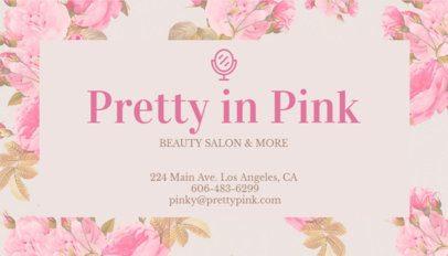 Beauty Salon Business Card Maker 67b