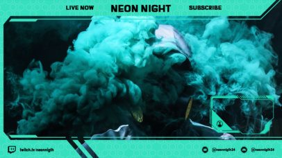 Twitch Overlay Creator for a Gamer Featuring a Neon Frame 2511a