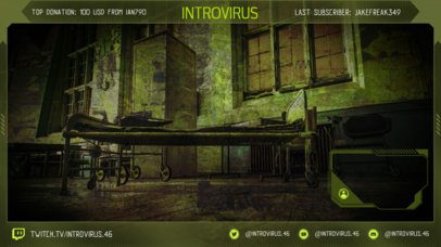 OBS Stream Overlay Template for Gamers Featuring a Post-Apocalyptic Background 2511q