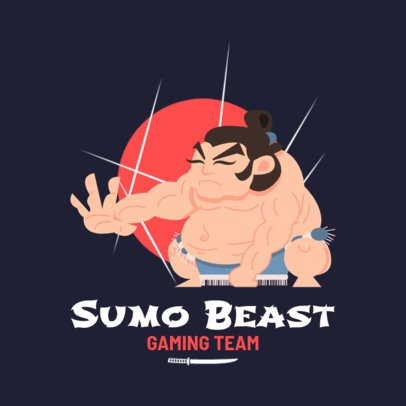 Gaming Logo Maker Featuring a Cartoonish Sumo Graphic 1264a-el1