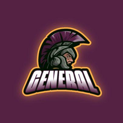 Gaming Logo Maker Featuring a Warrior with a Helmet 1327d-el1