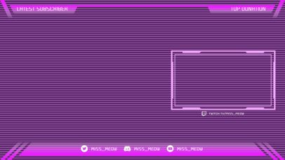 Twitch Stream Overlay Generator with a Vaporwave Vibe 2513e