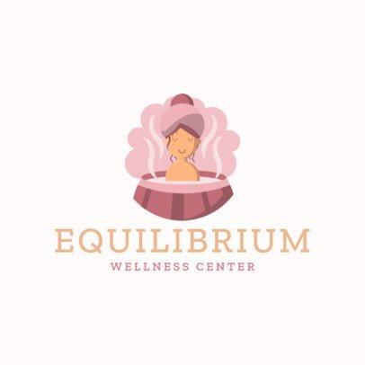 Wellness Brand Logo Maker Featuring a Woman in a Hot Tub 1304e-el1