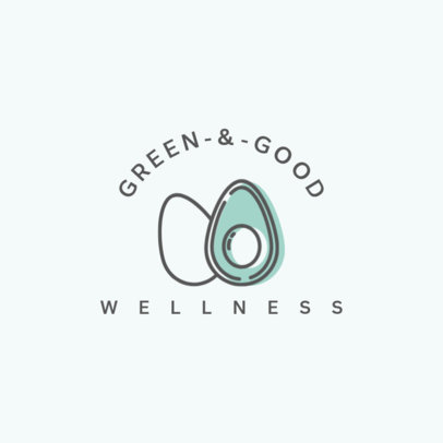 Wellness Logo Maker with the Graphic of an Avocado 1310a-el1