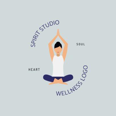 Spiritual Studio Logo Maker Featuring a Woman Doing Yoga 1302a-el1