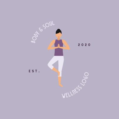 Wellness Center Logo Creator with a Woman Meditating 1302b-el1