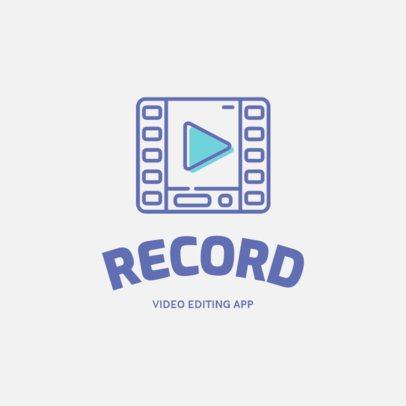 Logo Template for a Video Editing App 1309b-el1