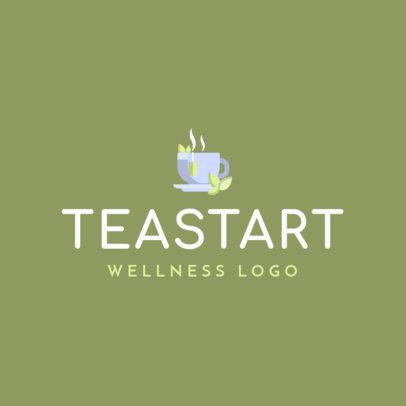 Wellness Logo Template Featuring a Tea Cup 1303b-el1