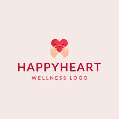 Wellness Logo Creator Featuring a Happy Heart Graphic 1303d-el1