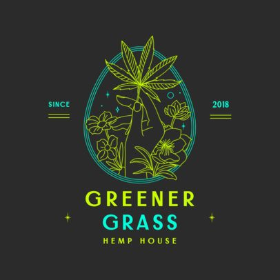 Elegant Logo Maker for a Weed Store with Minimalist Drawings 3134e