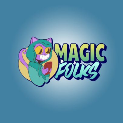 Logo Creator with a Magical Cartoon Character Graphic 3236i