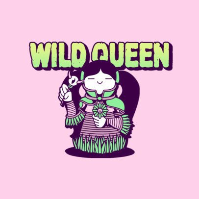 Gaming Logo Creator with an Anime-Like Queen Character 3236o