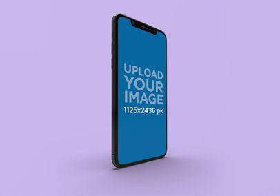 Mockup of an iPhone 11 Pro with a Plain Background 2000-el1