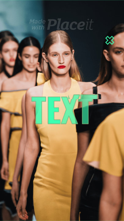 Fashion-Themed Instagram Story Video Template With Bold Animated Transitions 1558-el1