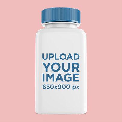 Pills Bottle Mockup Featuring a Plain Background 4063-el1